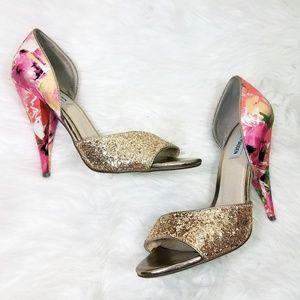 Steve Madden Delacaci Floral Glitter Heels